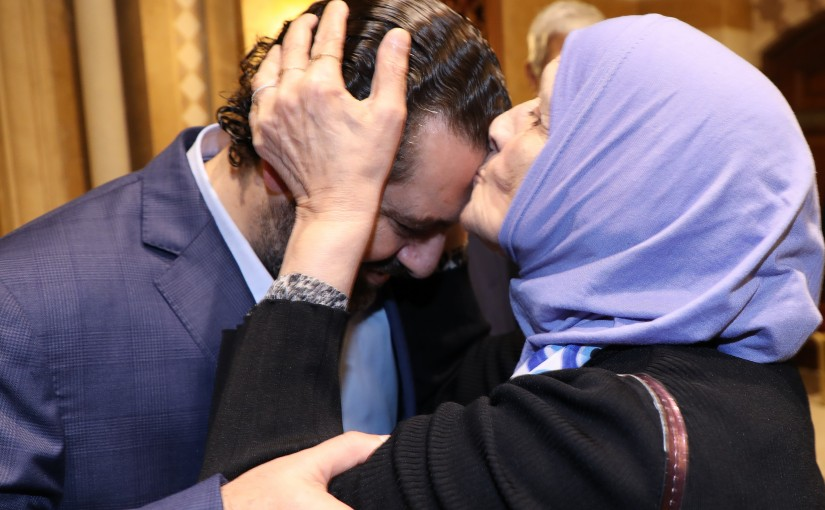 Pr Minister Saad Hariri meets a Delegation from Beirut Families