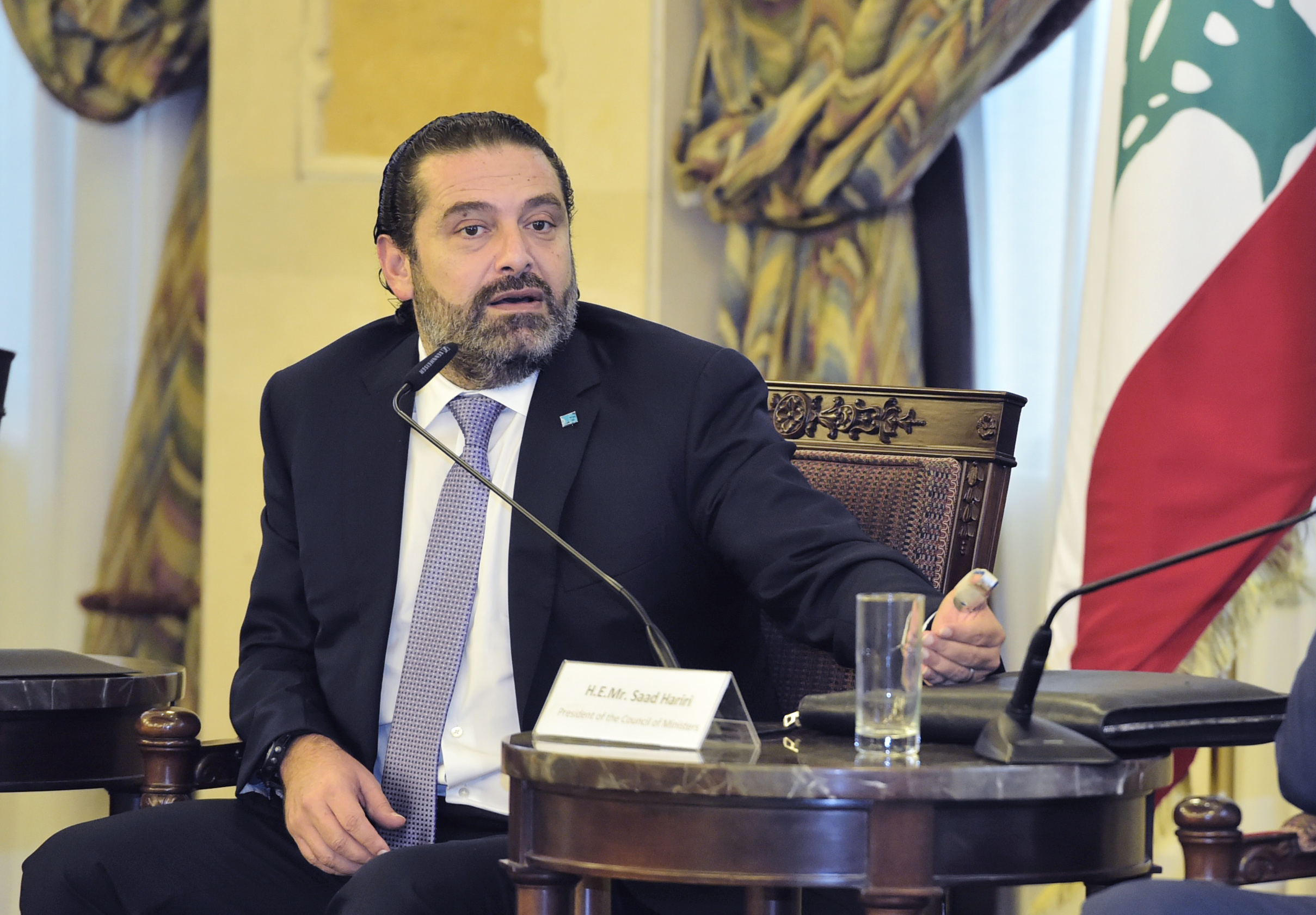 Pr Minister Saad Hariri Attends a Agriculture Conference at the Grand Serail 2
