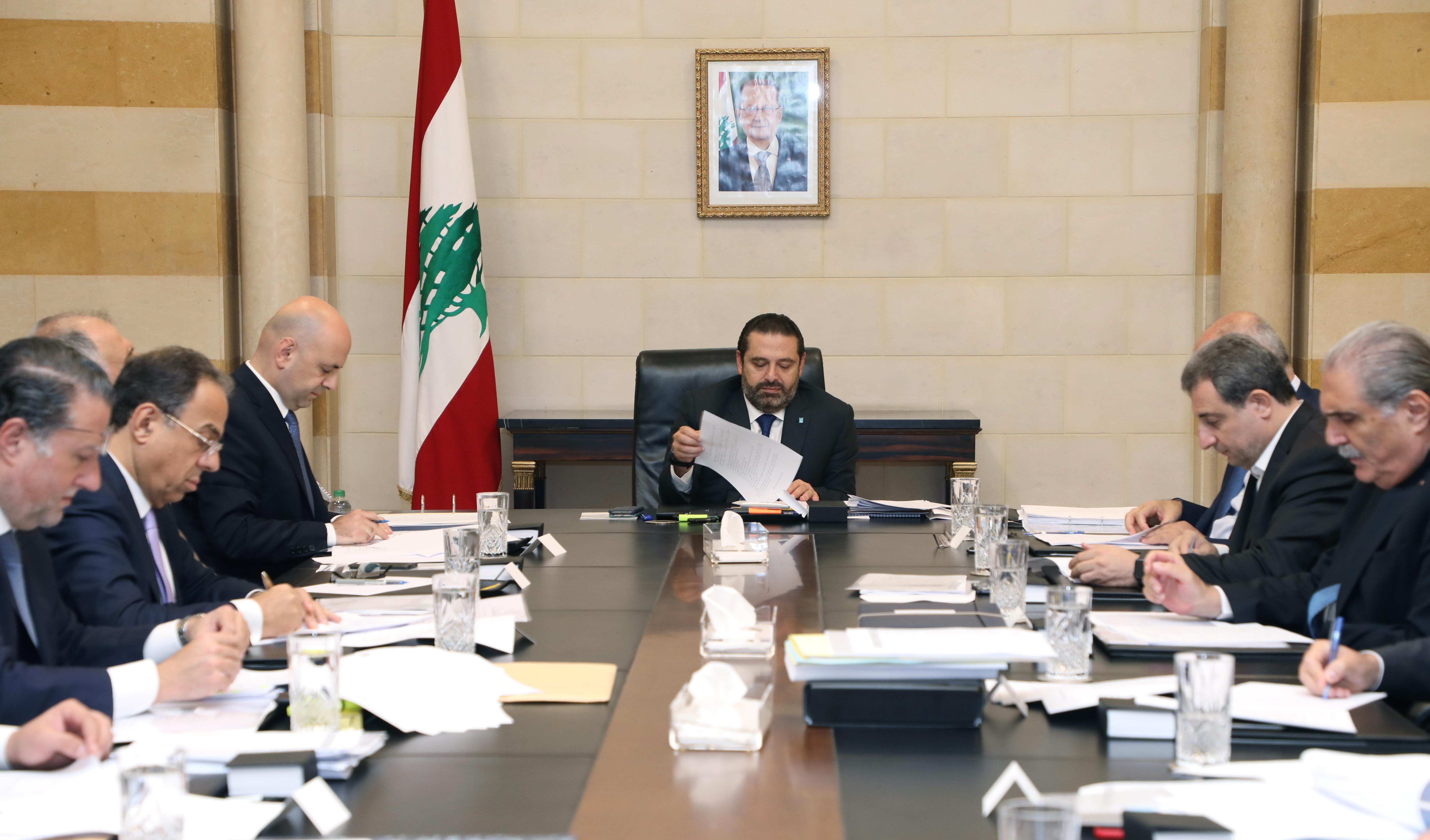 Pr Minister Saad Hariri Heading a Ministerial Council 2