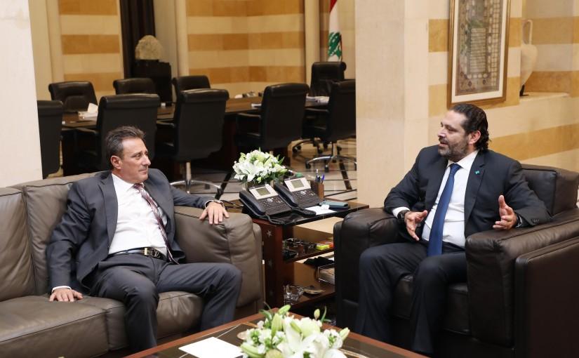 Pr Minister Saad Hariri meets Cypriot Ambassador