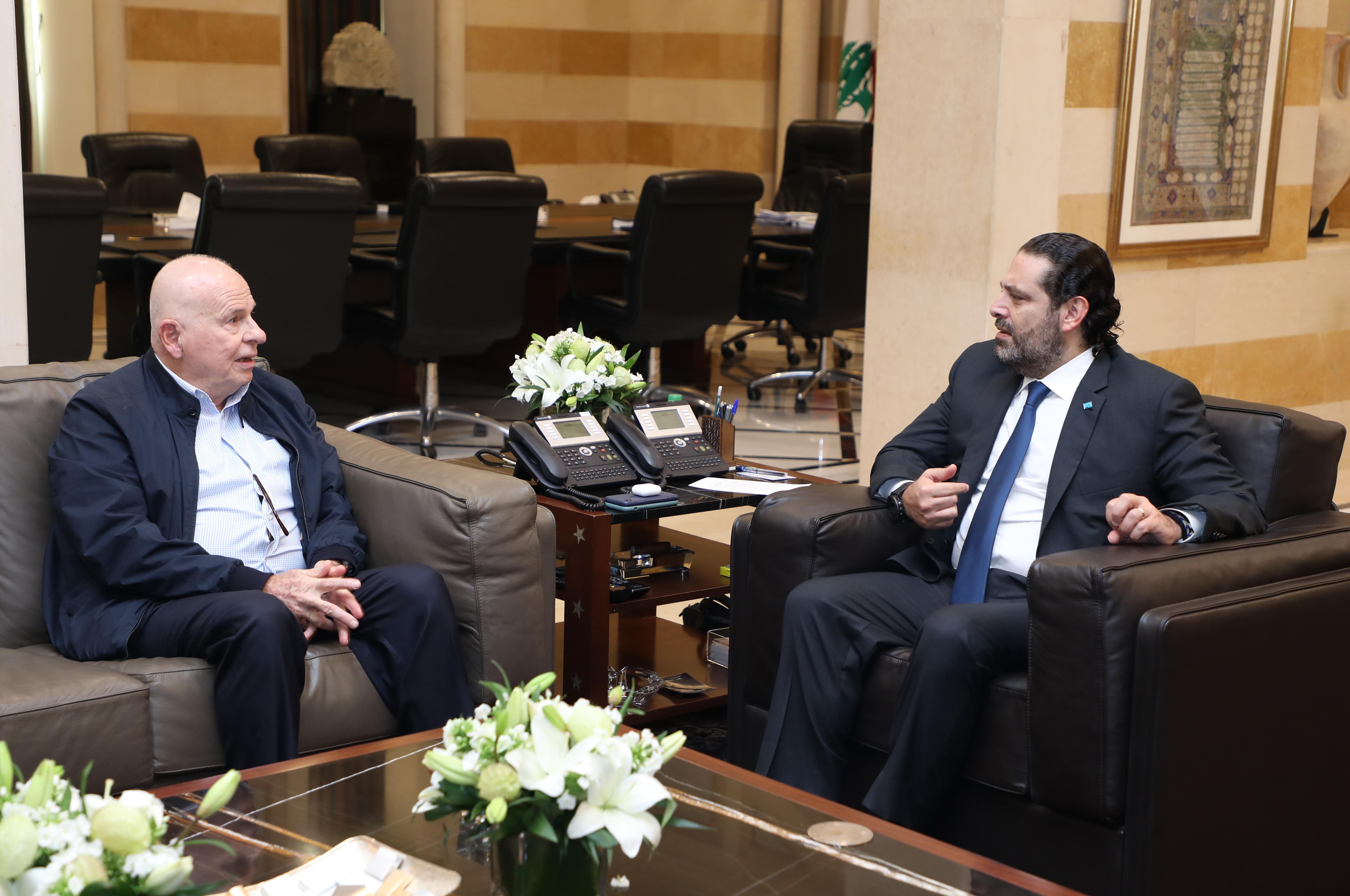 Pr Minister Saad Hariri meets Former MP Ahmad Kabara