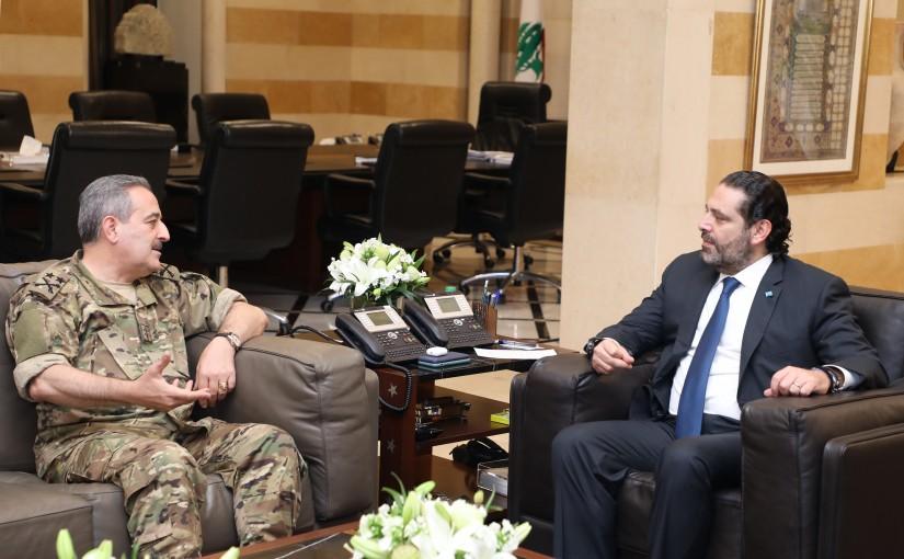 Pr Minister Saad Hariri meets General Amin el Ourom