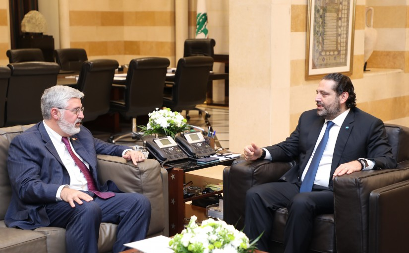 Pr Minister Saad Hariri meets Head of Aub