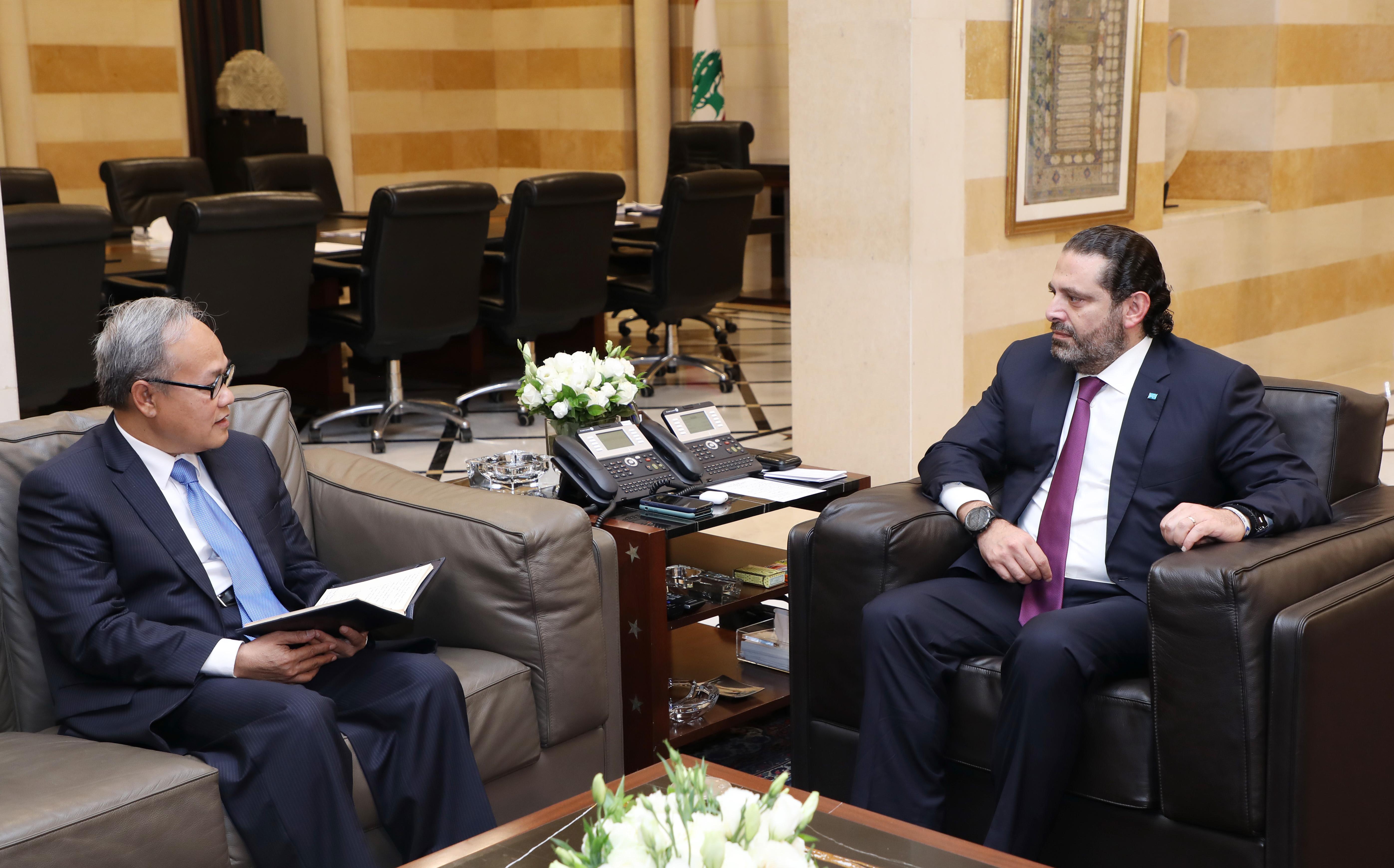 Pr Minister Saad Hariri meets Indonisian Ambassador 1