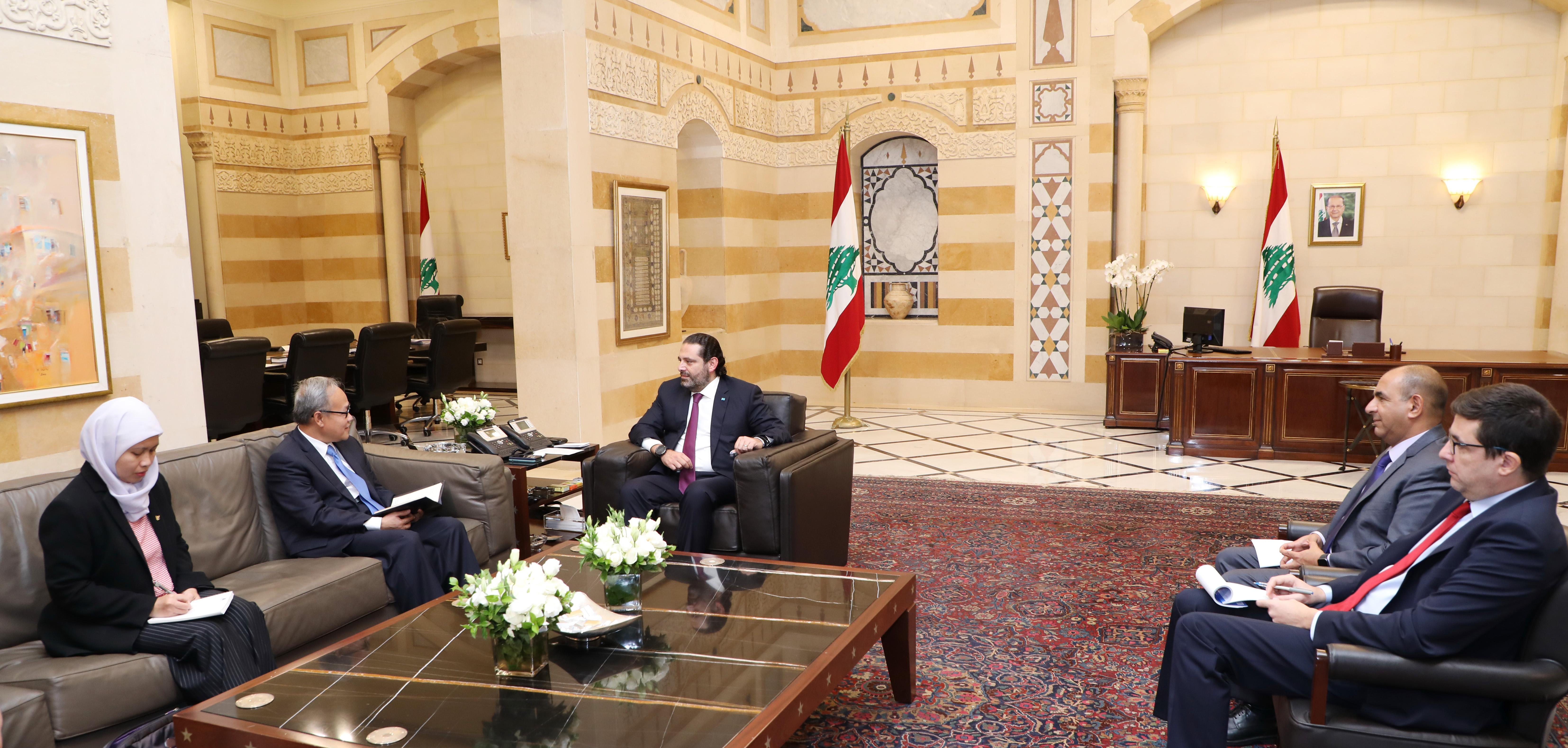 Pr Minister Saad Hariri meets Indonisian Ambassador