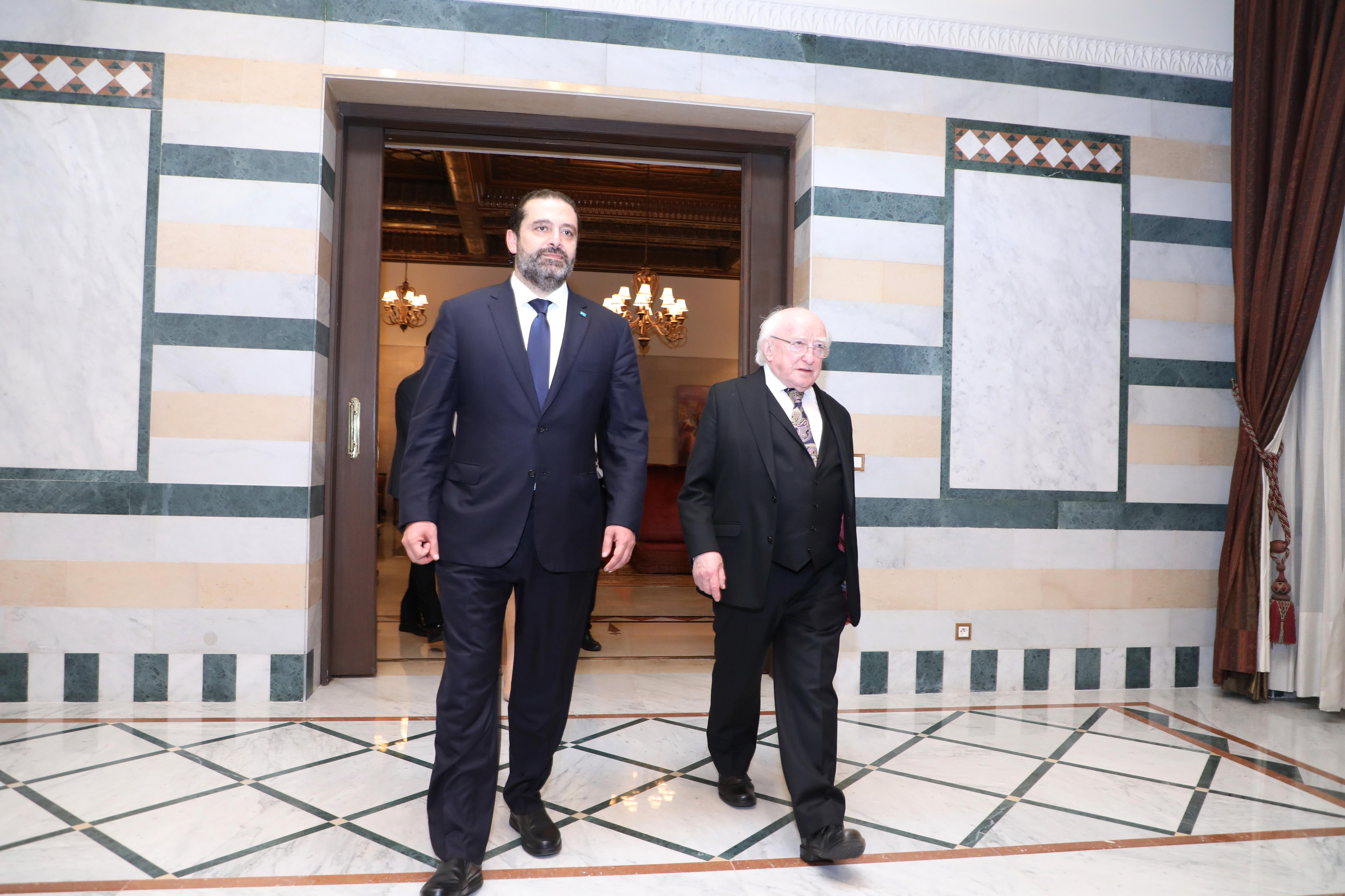 Pr Minister Saad Hariri meets Ireland President 3