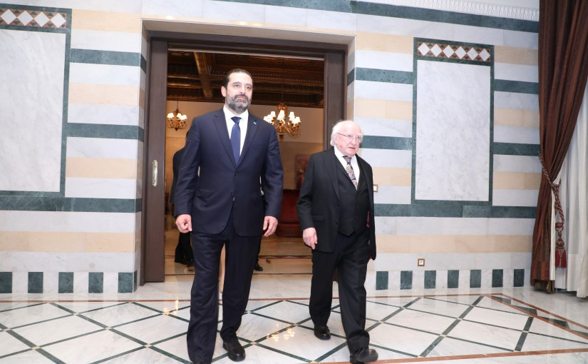 Pr Minister Saad Hariri meets Irish President
