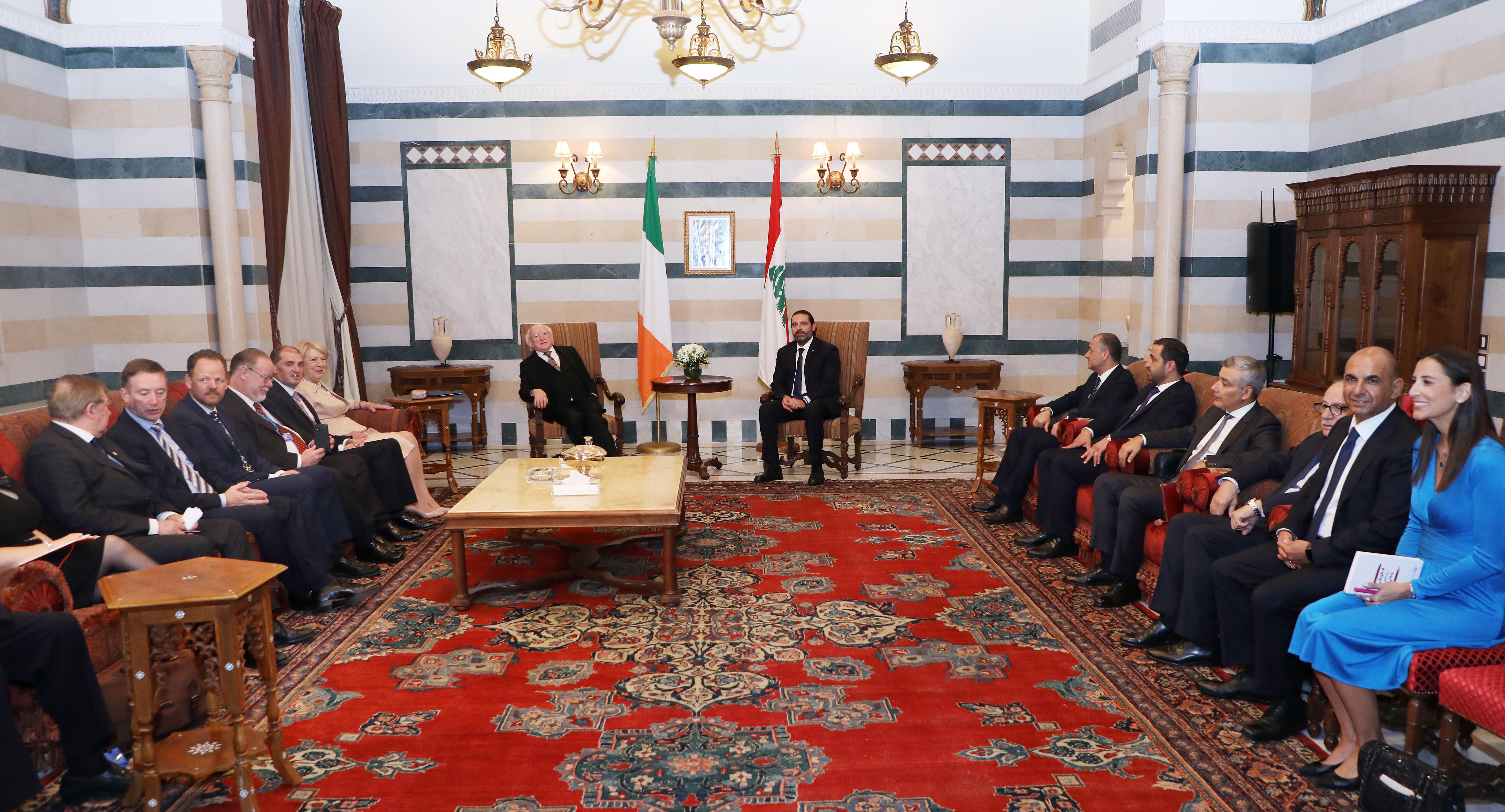Pr Minister Saad Hariri meets Ireland President
