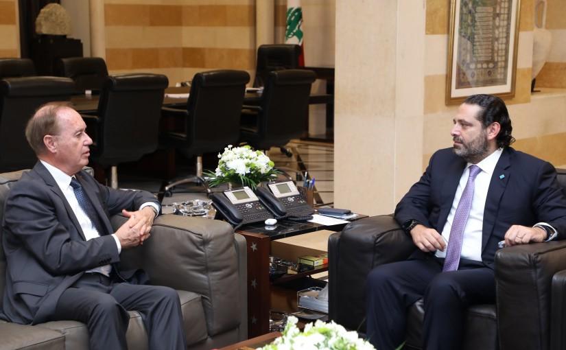 Pr Minister Saad Hariri meets Malta Ambassador