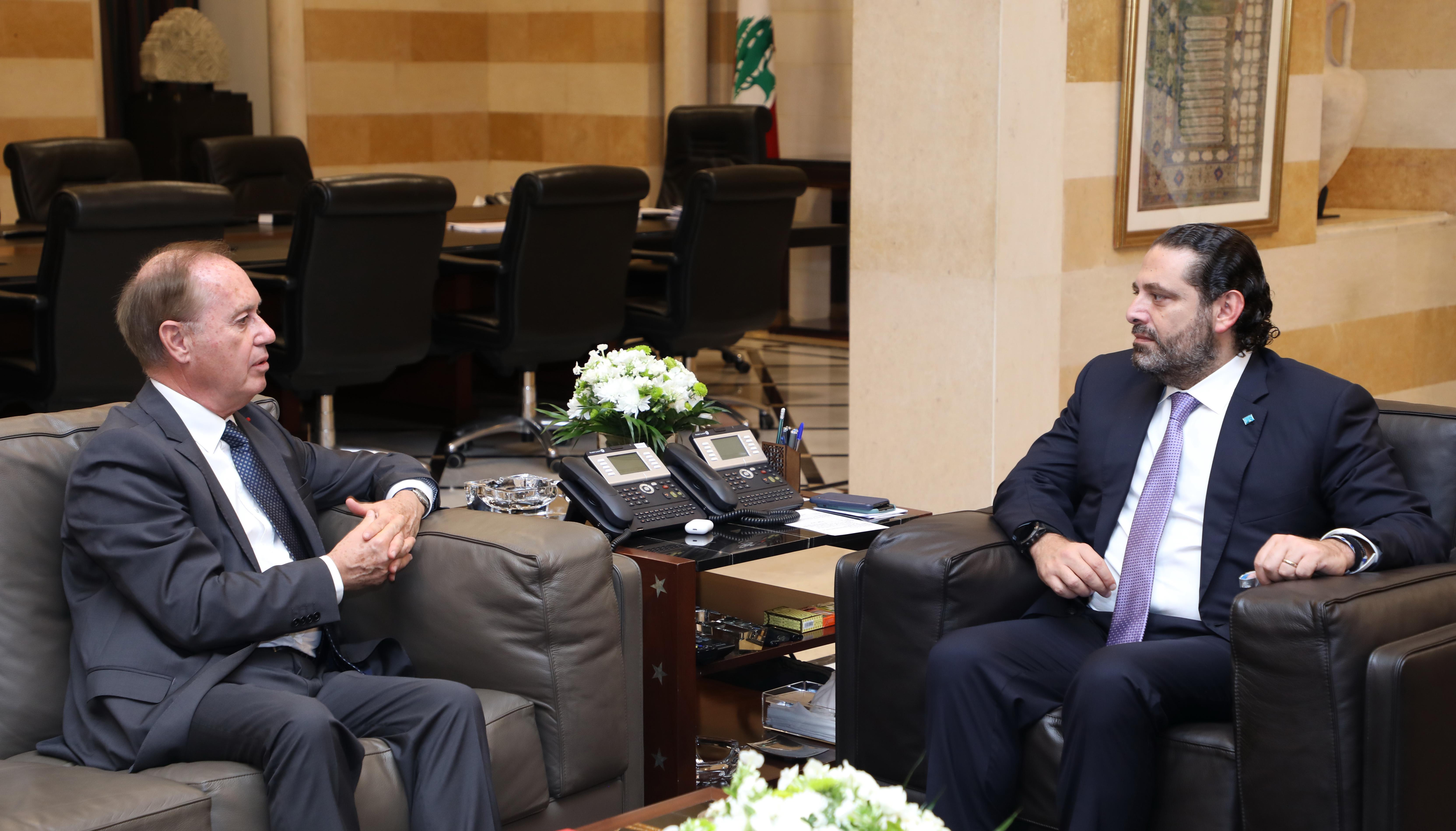 Pr Minister Saad Hariri meets Malta Ambassador 1