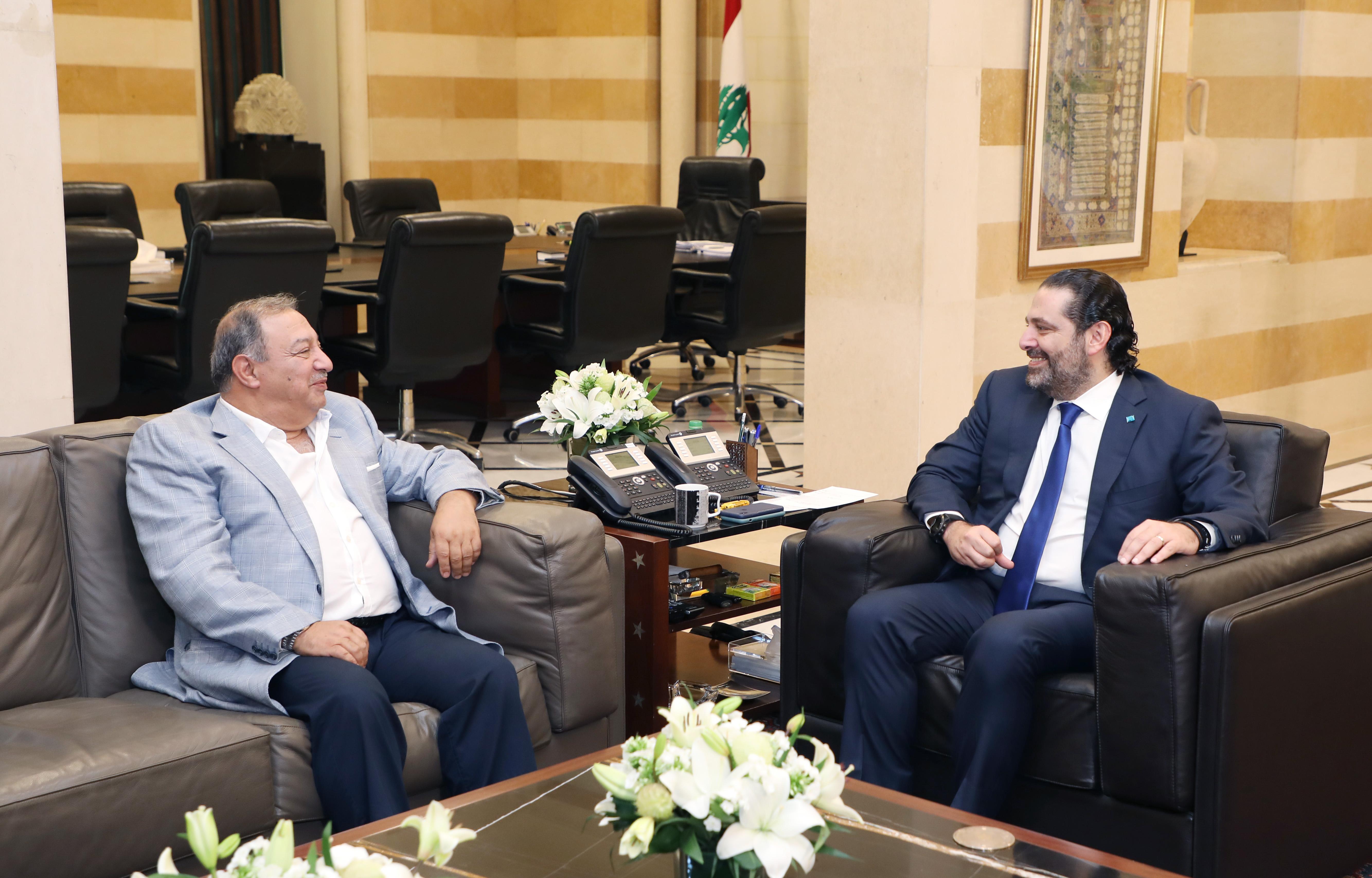 Pr Minister Saad Hariri meets Mr Aouni el Kaaki 1