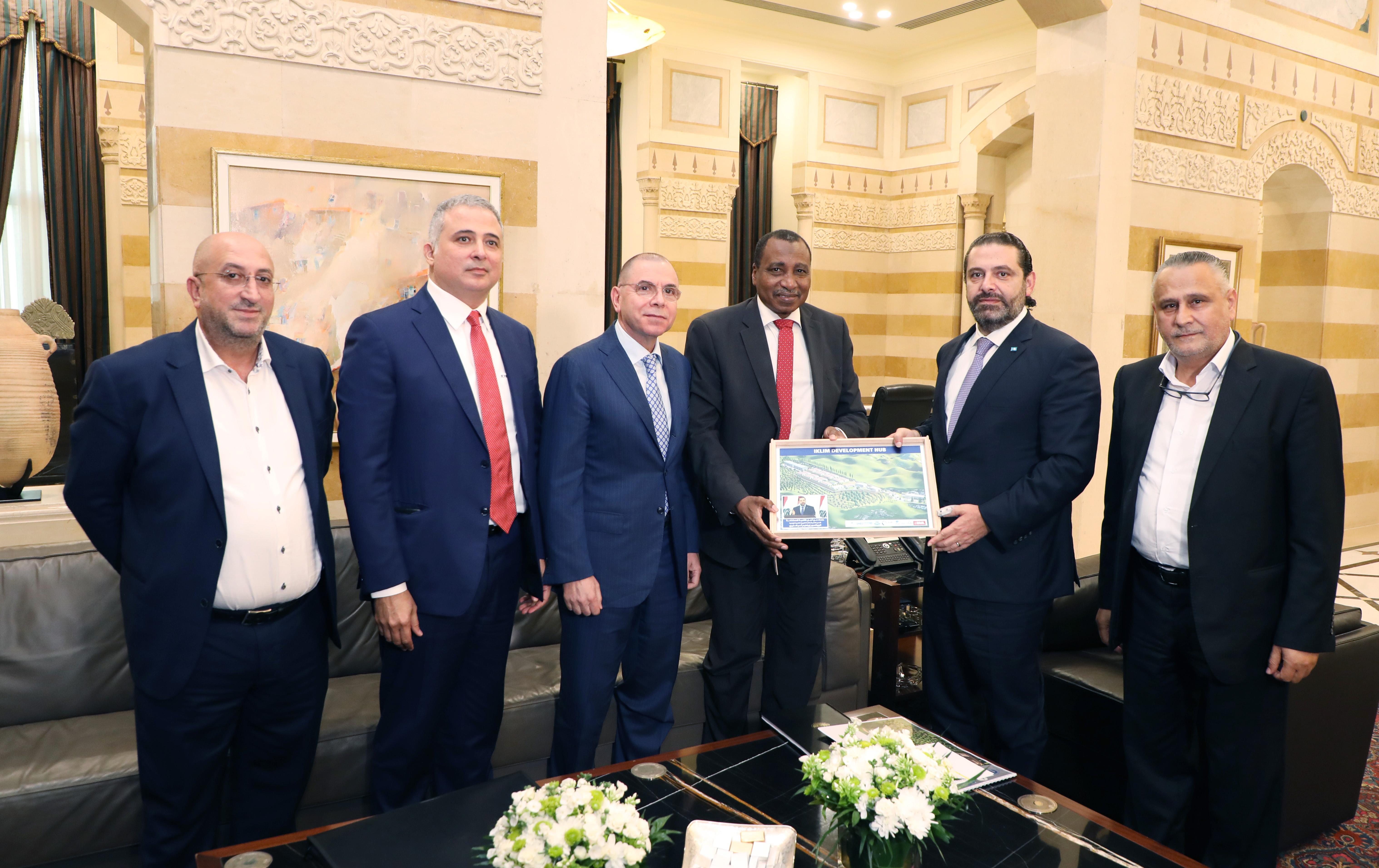 Pr Minister Saad Hariri meets Mr Ibrahim el Bouhayri