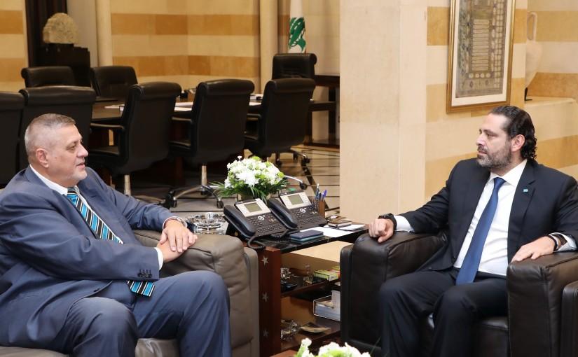 Pr Minister Saad Hariri meets Mr Jean Koubis