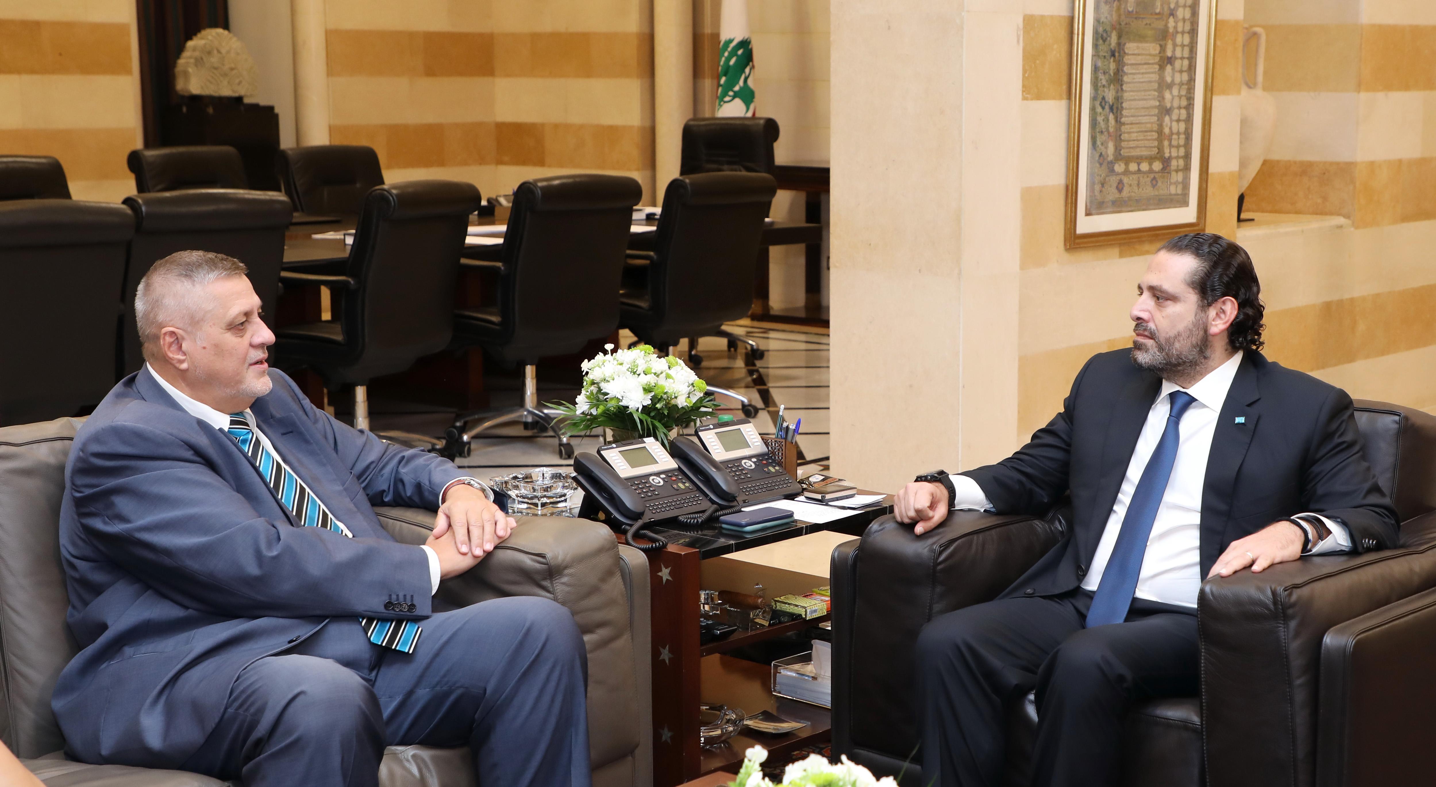 Pr Minister Saad Hariri meets Mr Jean Koubis 1