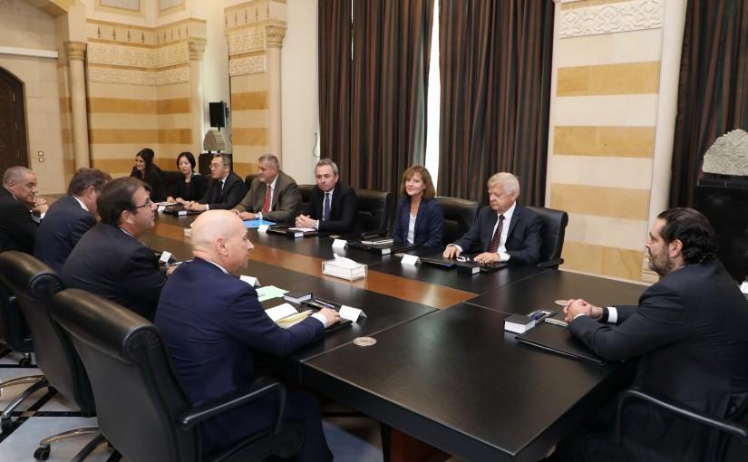 Pr Minister Saad Hariri meets a Delegation from Ambassadors