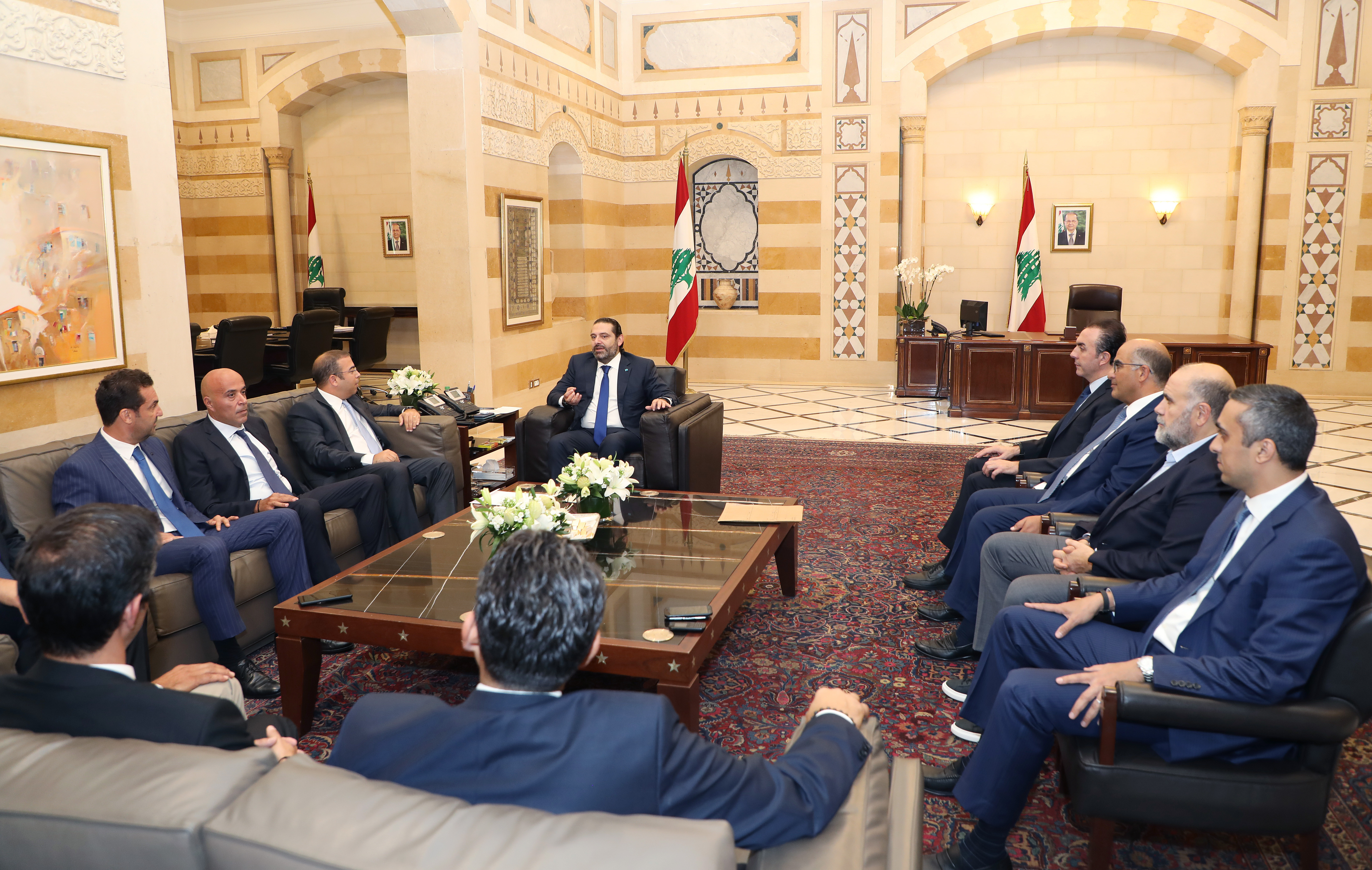 Pr Minister Saad Hariri meets a Delegation from Gluf Club 1
