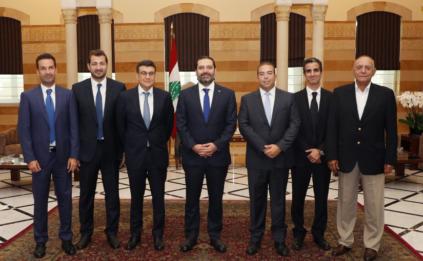 Pr Minister Saad Hariri meets a Delegation from Gulf Club