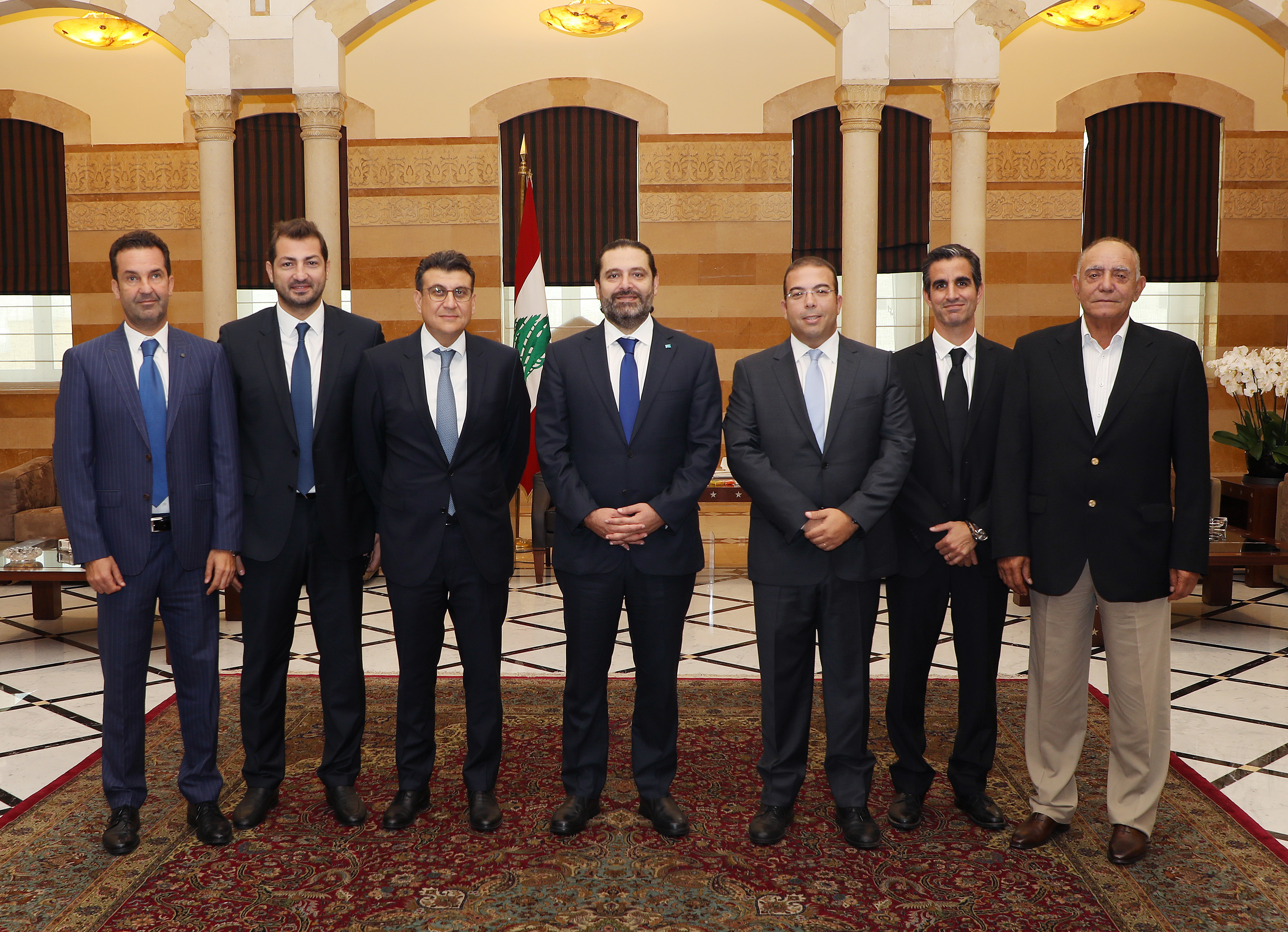 Pr Minister Saad Hariri meets a Delegation from Gluf Club