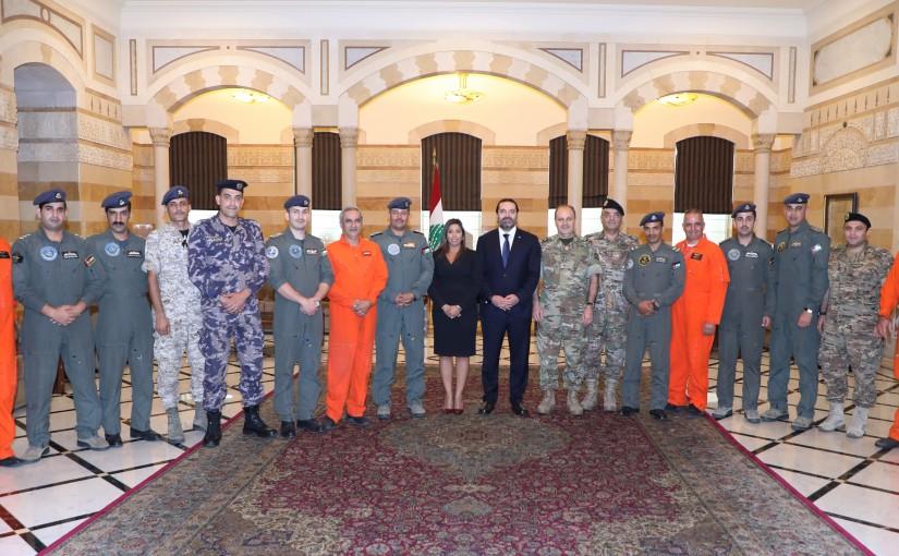 Pr Minister Saad Hariri meets a Delegation from Lebanese Jordanian Cyprus Pilots
