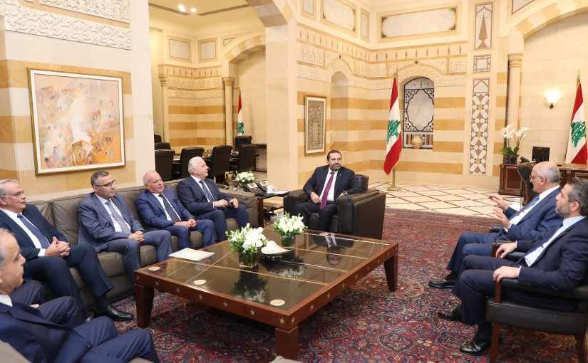 Pr Minister Saad Hariri meets a Delegation from Lebanese Judge
