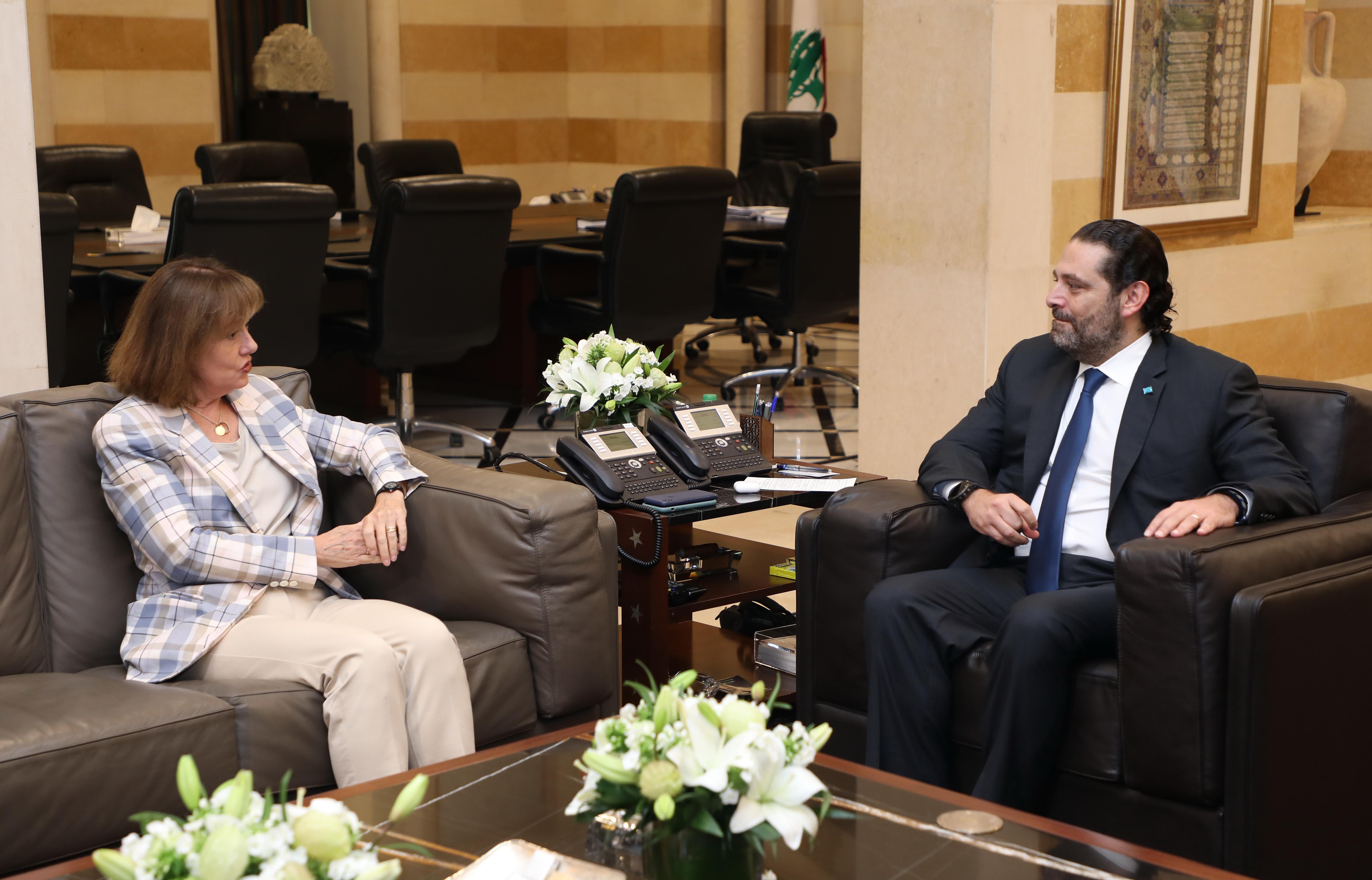 Pr minister Saad Hariri meets US Ambassador 1