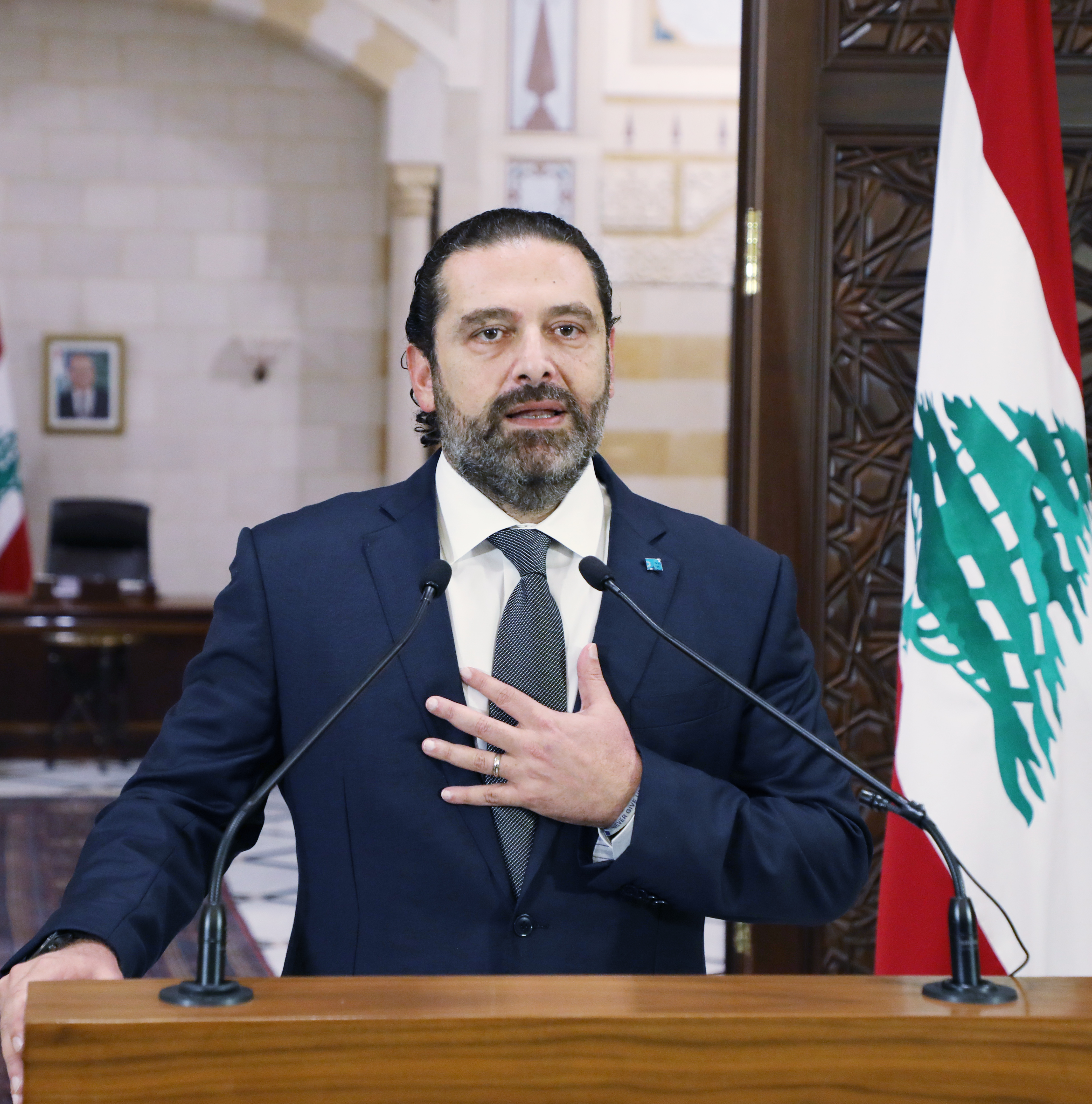 Press Conference for Pr Minister Saad Hariri 2