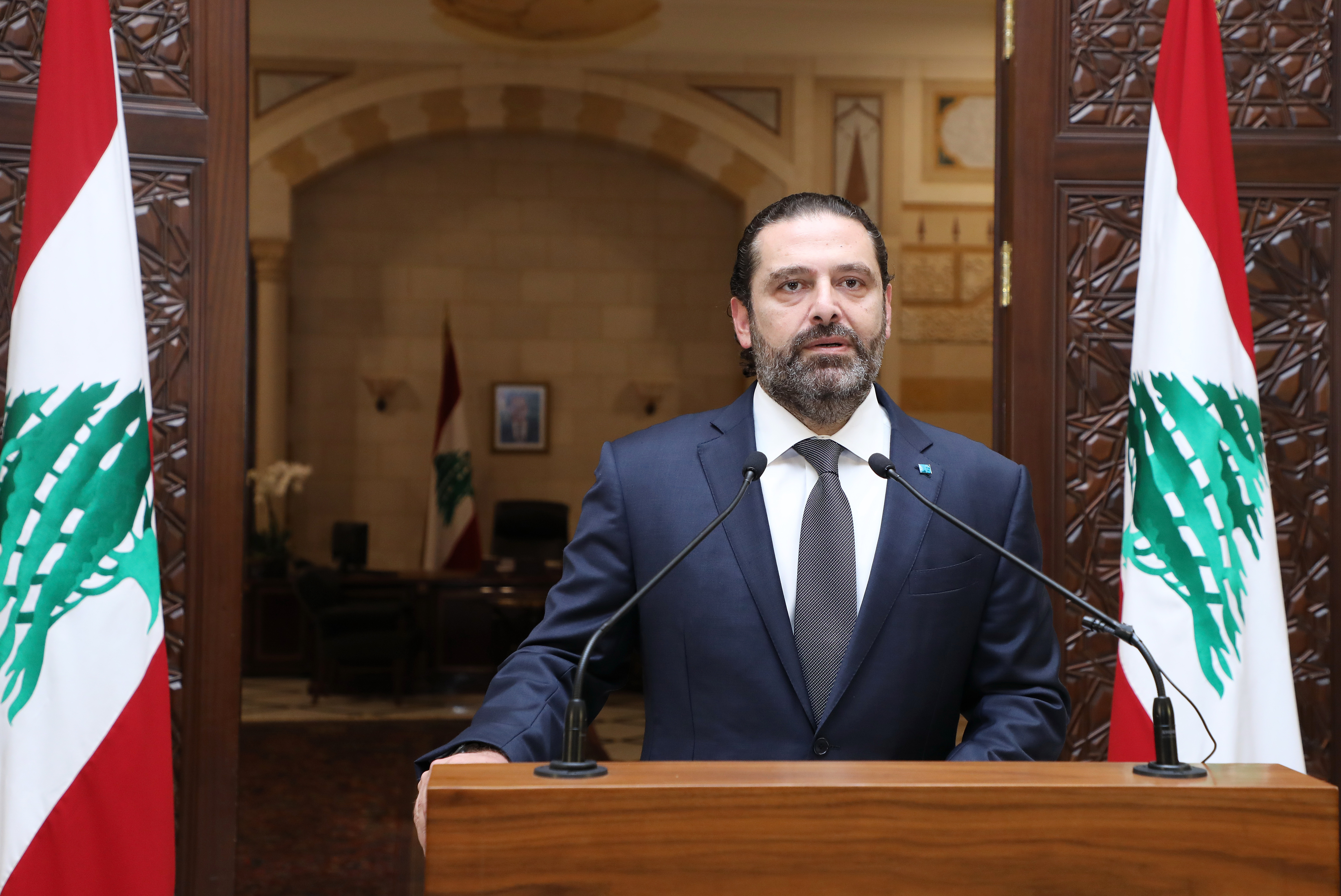 Press Conference for Pr Minister Saad Hariri 3