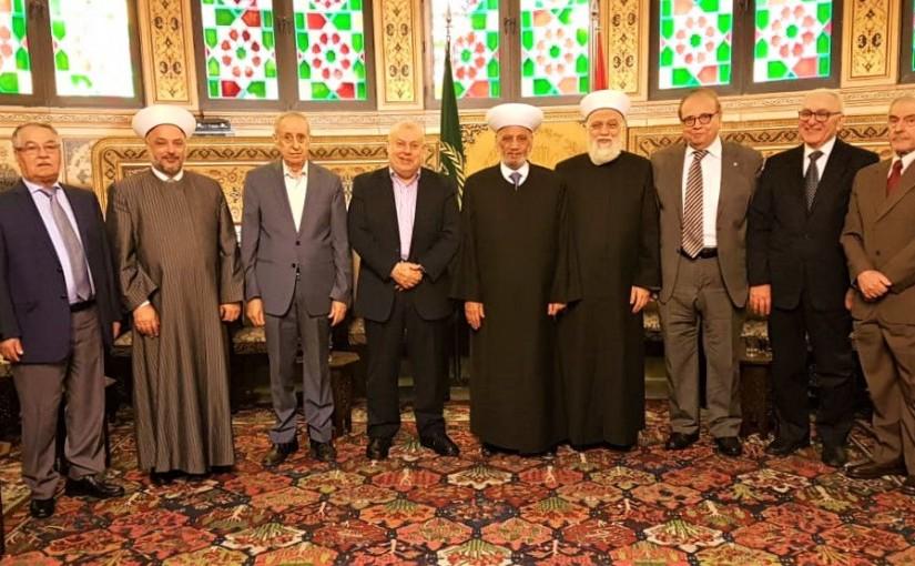 Mufti Abdel Latif Derian meets Mr Jamil Katerji with a Delegation