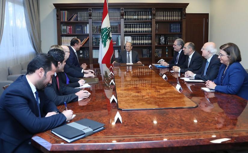 President Michel Aoun meets Ambassador Hossam Zaki Assistant Secretary General of Arab League of Arab States.