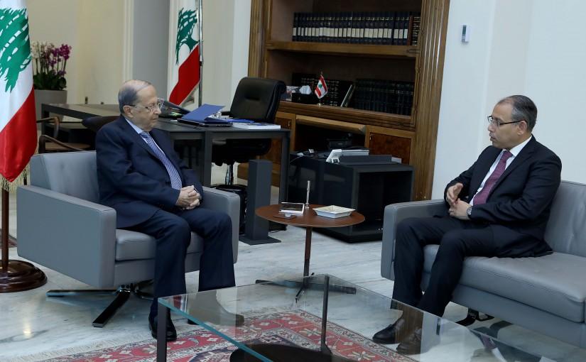 President Michel Aoun meets Egyptian Ambassador to Lebanon, Nazih al-Najjari.