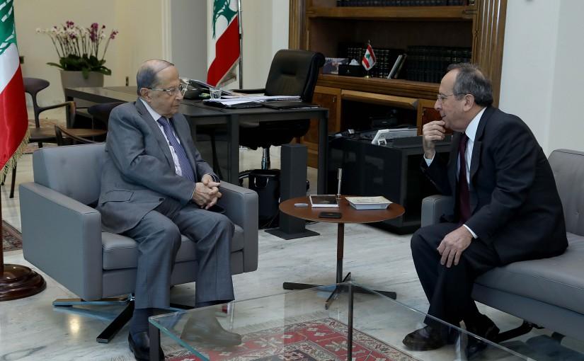 President Michel Aoun meets MP Jamil Al Sayyed.