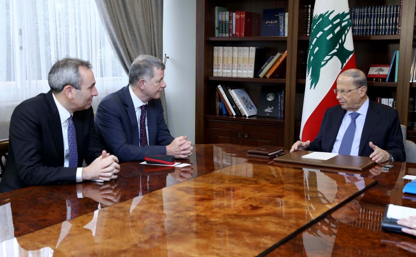 President Michel Aoun meets Mr. Richard Moore Political Director General of the British foreign office.