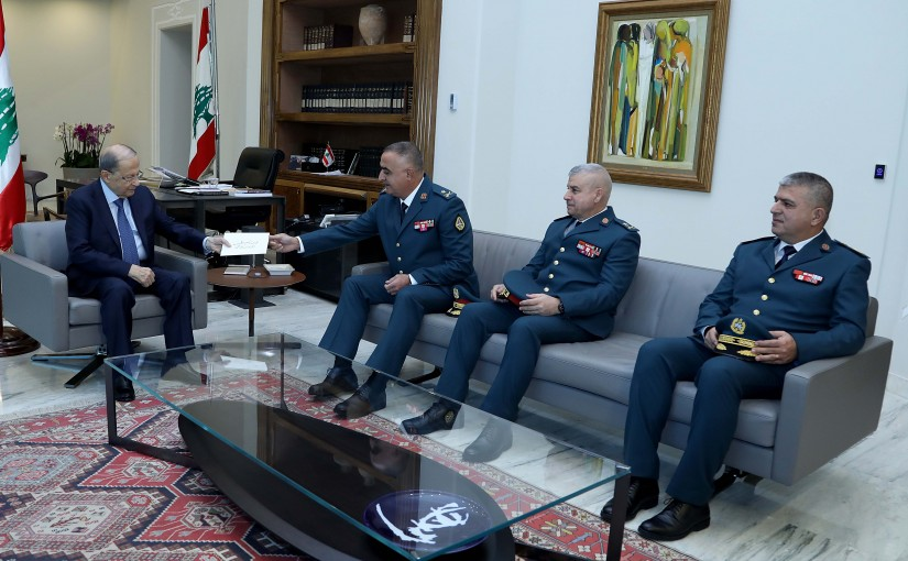 President Michel Aoun meets Army Command Officers.
