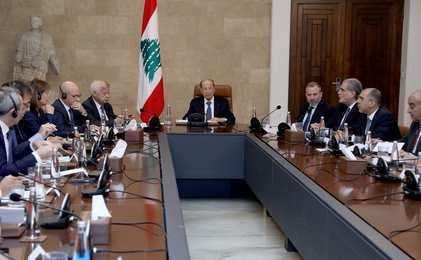 President Michel Aoun received Ambassadors of the International Support Group for Lebanon.