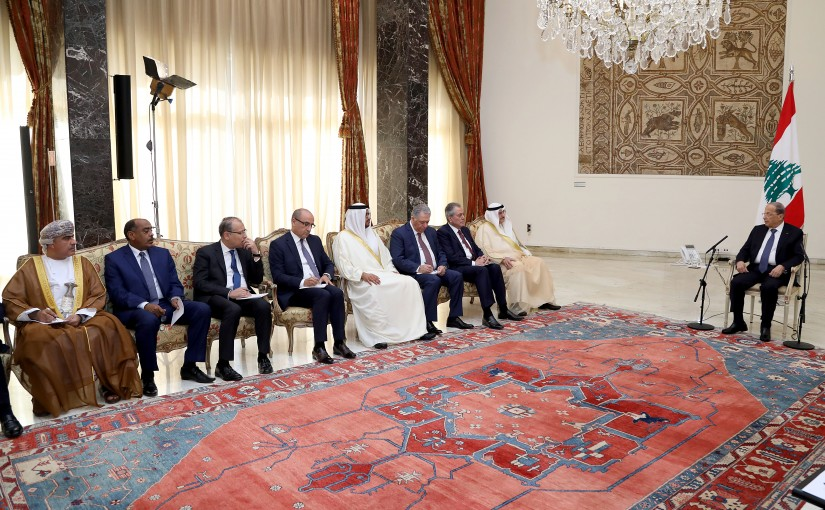 President Michel Aoun received Delegation of Arab Ambassadors to Lebanon.