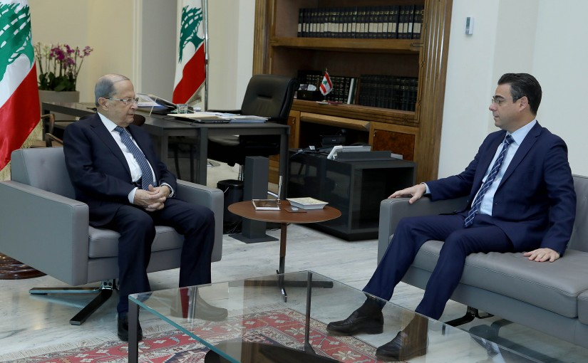 President Michel Aoun meets MP Nicolas Sehnaoui.