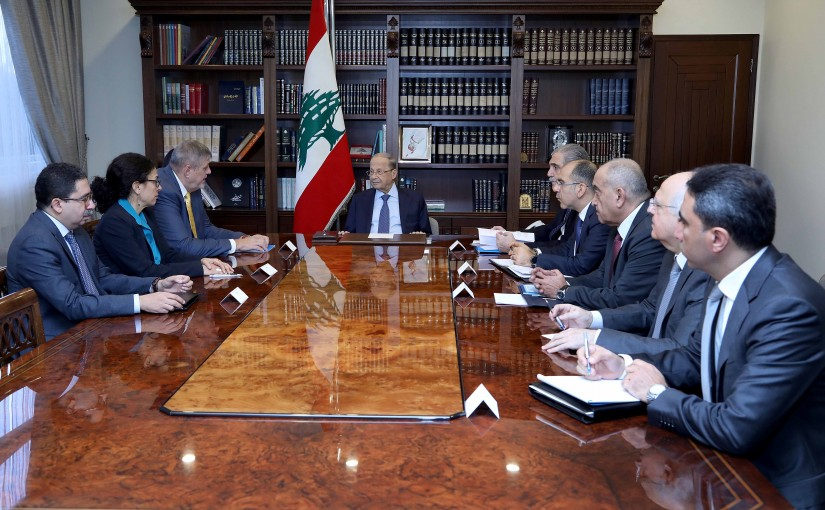 President Michel Aoun meets Mr. Jan Kubis UN Special Coordinator for Lebanon with a delegation.