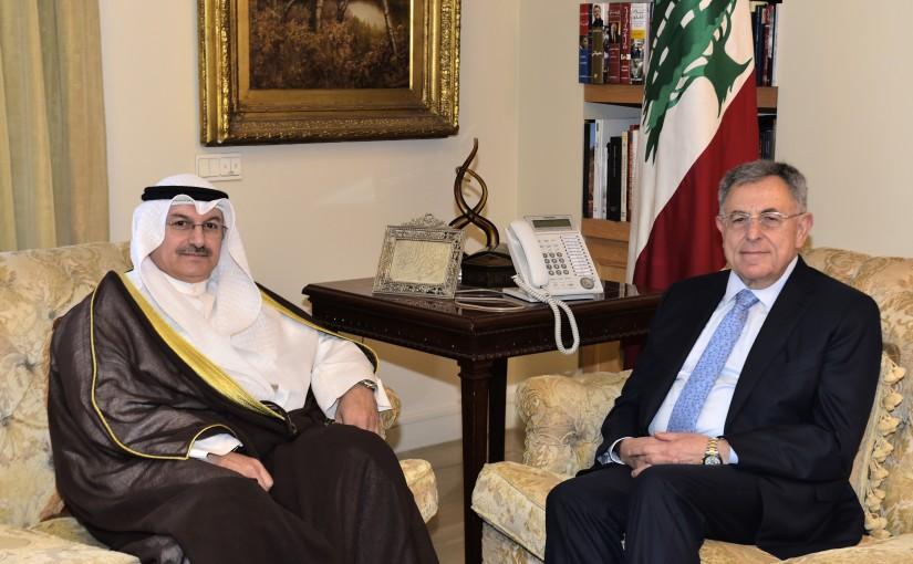 Former Pr Minister Fouad Siniora meets Kuwaiti Ambassador
