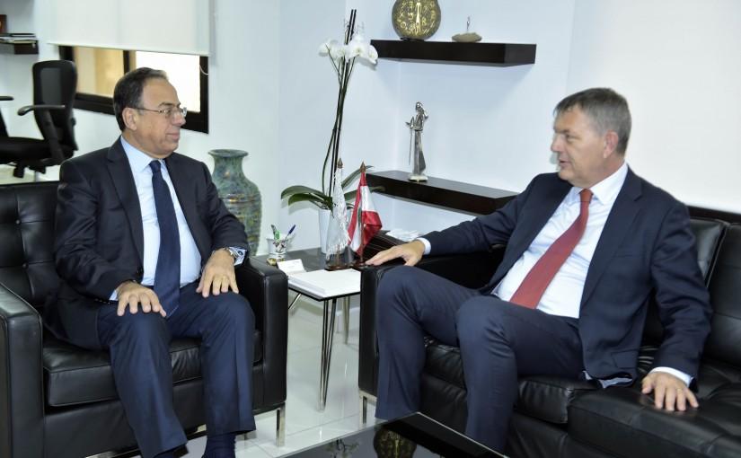 Minister Mansour Bteich meets Mr Philippe Larizini