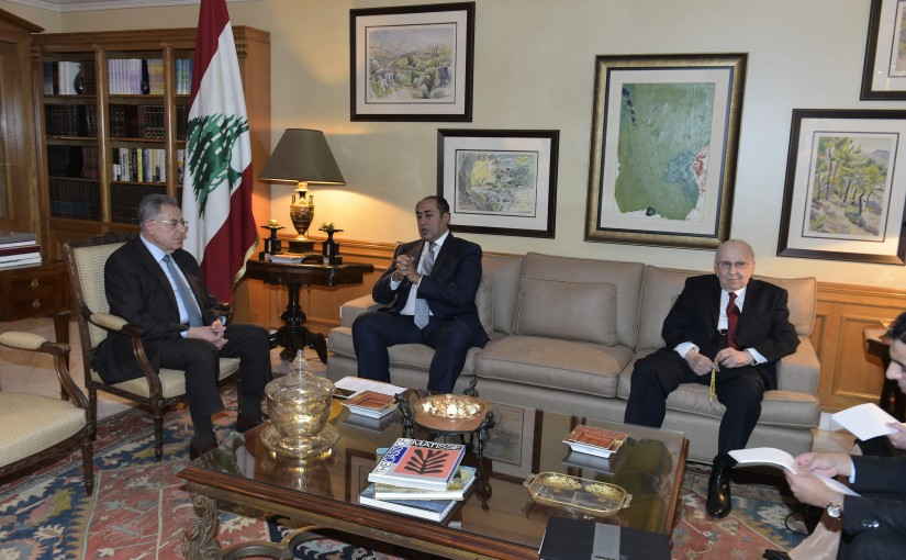 Former Pr Minister Fouad Siniora meets a Egyptian Delegation