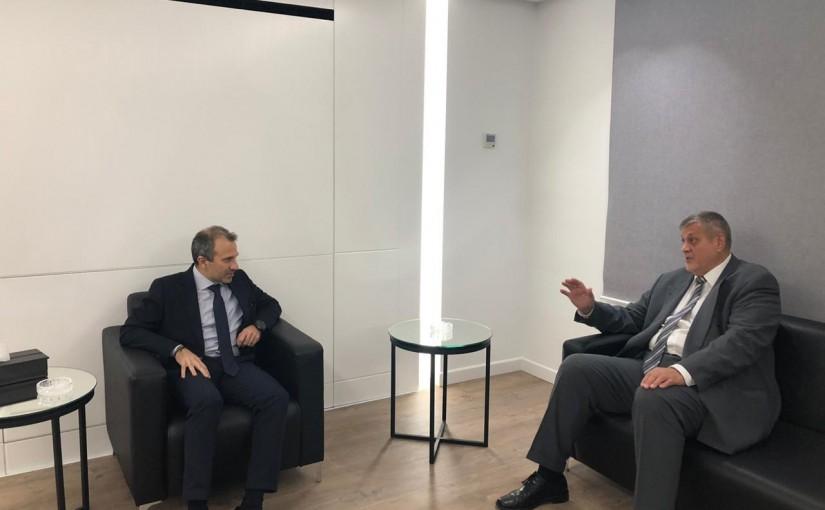 Minister Gebran Bassil meets Mr Yan Koubish
