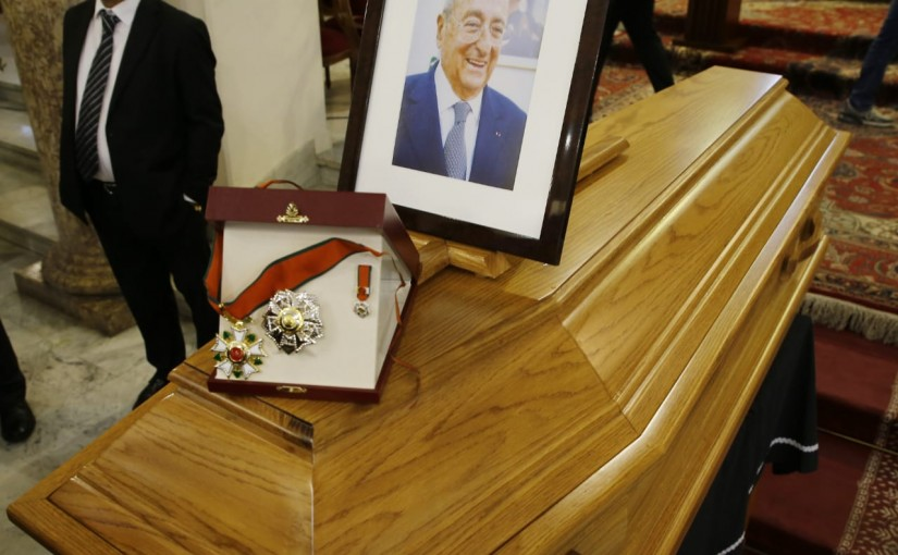 Mass for the Late Former Minister Michel Edde at Mar Youssef Church Hekmeh