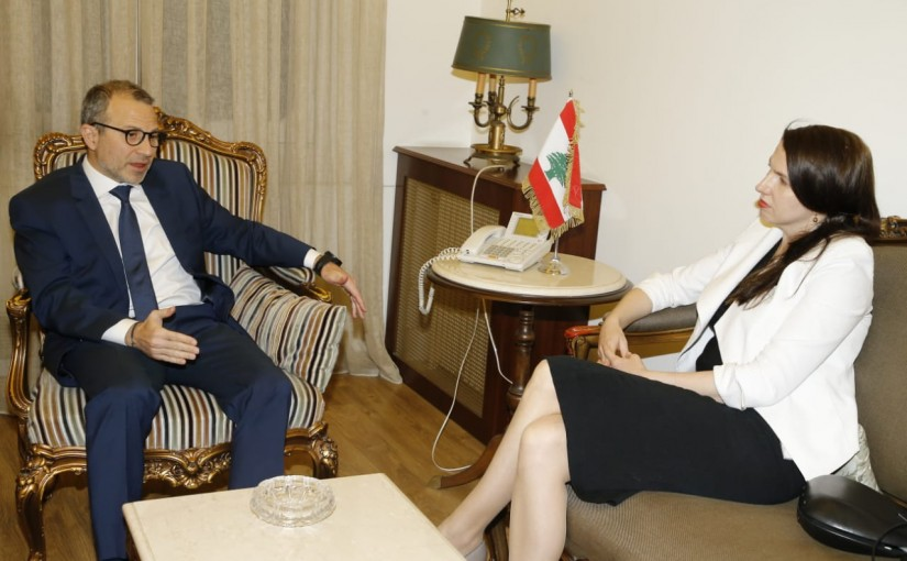 Minister Gebran Bassil meets Australian Ambassador