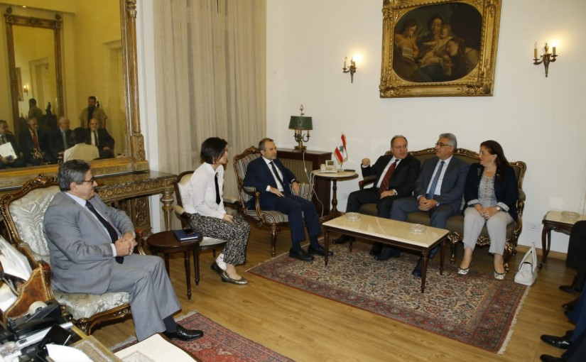 Minister Gebran Bassil meets a Delegation from Lebanese University