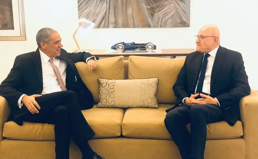 Former Pr Minister Tammam Salam meets European Ambassador