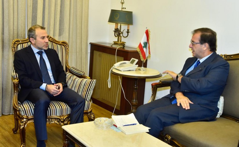 Minister Gebran Bassil meets French Ambassador