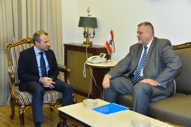 Minister Gebran Bassil meets Mr Jean Kubis