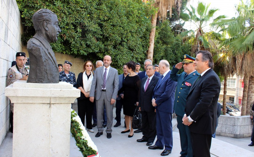 MP Roger Azar Put a Wreath on the Grave of Former Pr Fouad Chehab