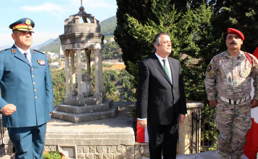 MP Roger Azar Put a Wreath on Minister Habib Abou Chahla