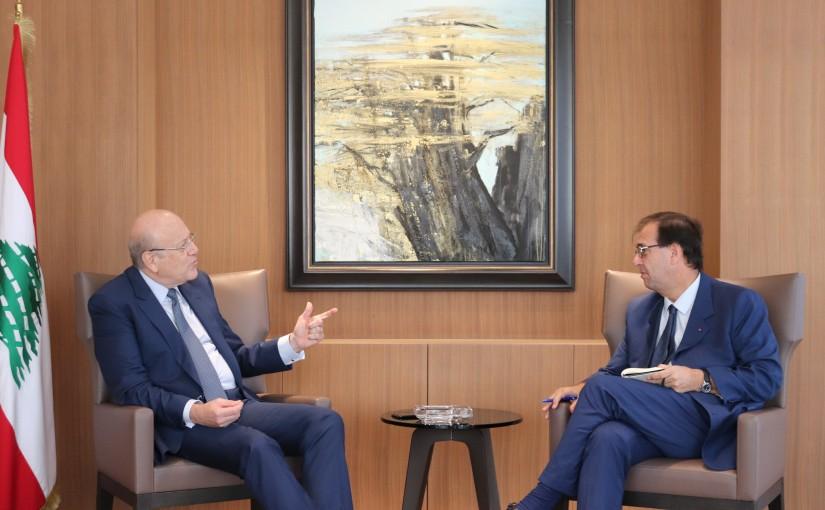 Former Pr Minister Najib Mikati meets French Ambassador